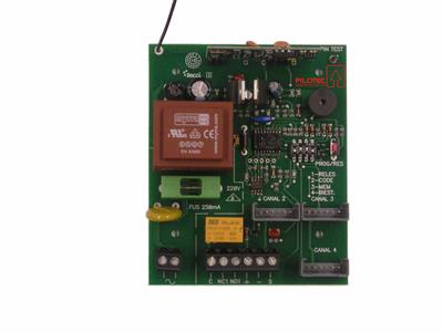 Control de accesos | RECEPTOR RADIO UNIVERSAL 255 USUARIOS A 433 MHZ